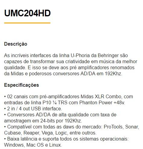 UMC204HD